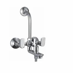 Blues Azzaro 3 In 1 L Bend Wall Mixer for Bathroom Fitting, Packaging Type: Box