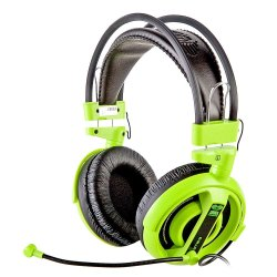 E-Blue Cobra Professional Gaming Music Headphone/Headset with Mic EHS013 (Green)