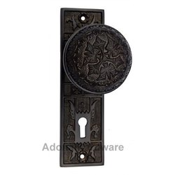 Dabbasheth Silicon Bronze Door Knob with Plate
