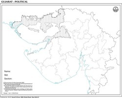Gujarat with Districts For State Map