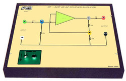 Op - Amp as AC Coupled Amplifier Trainer