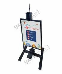 Foot Operated Hand Sanitizer Stand With Branding Space