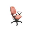 Medium Back Brown Office Chair