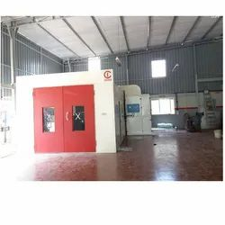 Cross Flow Paint Booth