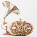 Designer Beaded Clutch Bag