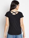 Ladies Round Neck Cotton Printed T-Shirt