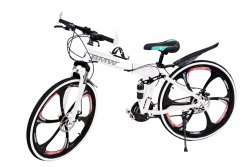 21 Gear White Color Foldable Bicycle