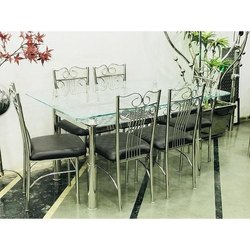 Designer Stainless Steel Dining Table Set for Home