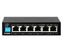 Lan Capable D-link Dlink Des-f1006p-e 6-port Unmanaged Poe Switch