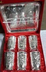 Rawsome shack German Silver Glass set wedding gift