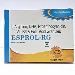 L- Arginie Dha Proanthocyanidin Vitamins Folic Acid Sachet
