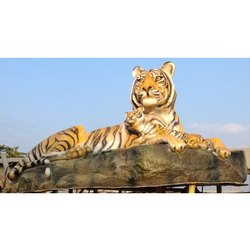 Tiger with Cub Statue