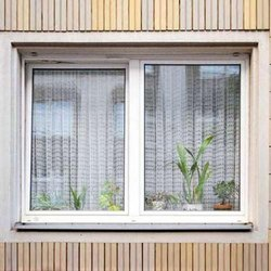UPVC Mesh Window