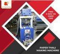 Fully Automatic 8 Roll Paper Plate Thali Dona Making Machine