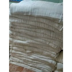 Plain Off White Pure Cotton Dhoti Fabric, Packaging Type: Plastic Bag, GSM: 50-100 GSM