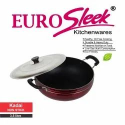Nonstick Ptfe (pfoa Free) Kadhai Non Stick Kadai (Euro Sleek), For Home