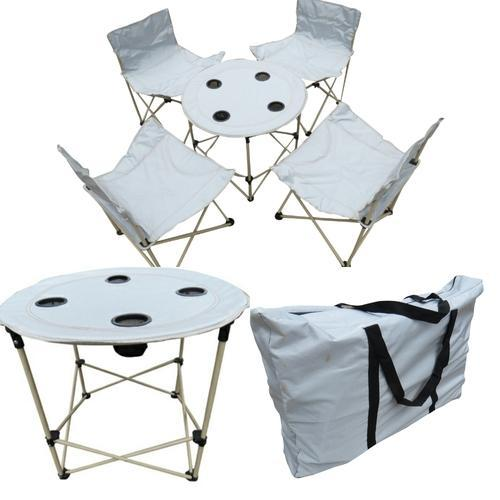 Incredible Folding Camping Chairs Table Set With Carry Bag Red Inzonedesignstudio Interior Chair Design Inzonedesignstudiocom