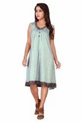 Georgette Sleeveless Collar Dress