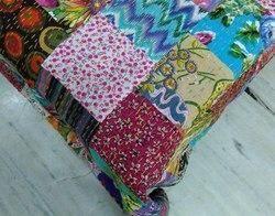 Patch Work Kantha Bedspread