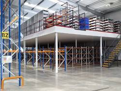 Double Decker Mezzanine Floor Heavy Duty Racks