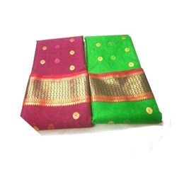 Festive Wear Designer Banarsi Silk Saree, Packaging Type: Packet, 6.3 m (with blouse piece)