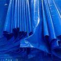 蓝色PVC涂层HDPE篷布卷,用于封面