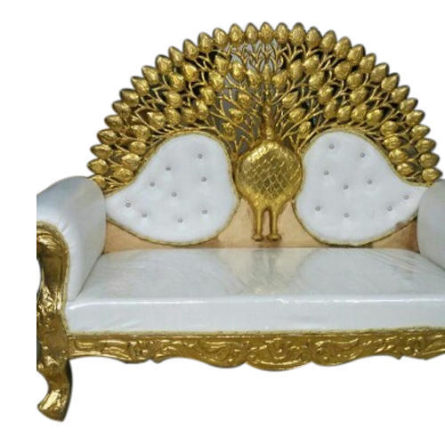 Wedding Loveseat: Metal And Leather White Peacock Wedding Sofa, Rs 25000