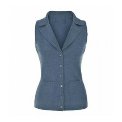 Ladies Sleeveless Formal Jacket, Size: S