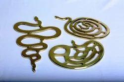 Snake Shape Brass Dining Coaster