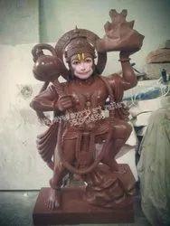 Hanuman Brown Marble Statue