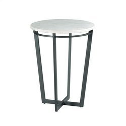 White Round Side Table, Size: 40 x 40 x 60 cm