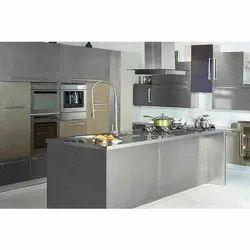 Hitech Straight Stainless Steel Modular Kitchen