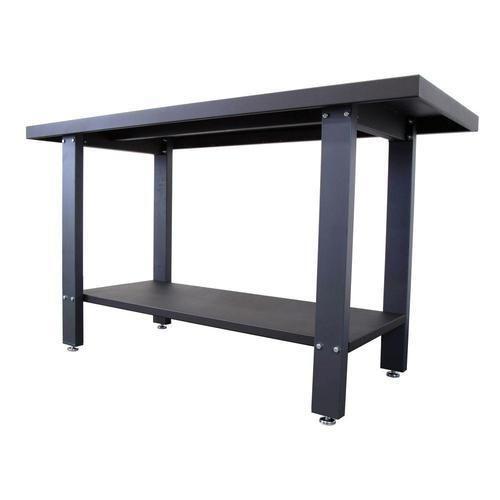 Black Rectangular Industrial Steel Work Tables, 70 80 Kg