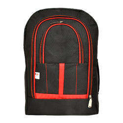 Polyester Black, Red Famous Laptop Bag