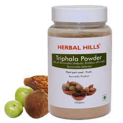 Chemical Free and Natural Triphala Powder - Healthy Digestion Herbal Supporter - 100 gms