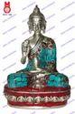 Buddha Sitting Blessing Hand W/ Shawl Statue