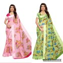 PRINTED WITH SATIN PATTA SAREE