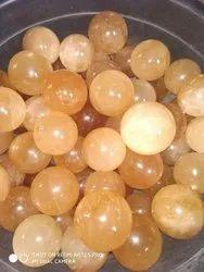 Honey Calcite Ball