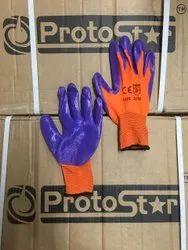 Nitrile coated Safety Gloves