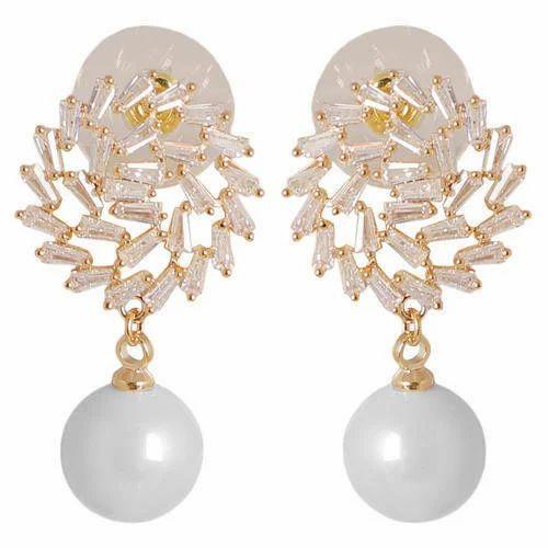 Keyline Gold Plated Beautiful American Diamond Stylish Earring For Women