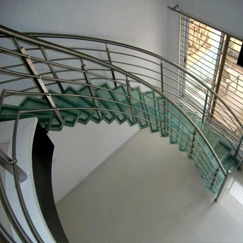 Circular And Dog Legged Stainless Steel Staircase