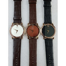 Crony Designer Leather Strap Wrist Watch