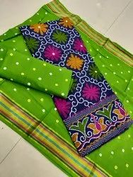 Cotton Suit With Bandhej Dupatta