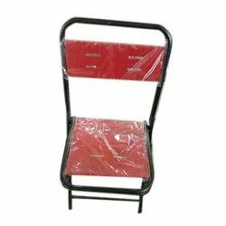 Red And Black Foldable Mild Steel Chair For Restaurant