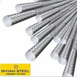 Iron 8mm - 32mm Shyam Steel TMT Bar, 12 meter, Grade: Fe 500D