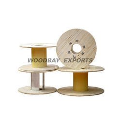 Brown Plywood Reels With PVC Barrel
