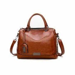 Brown Modern Luxury Women Leather Handbag, Pure Leather: Yes