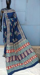 Ajrakh Printed Cotton Saree