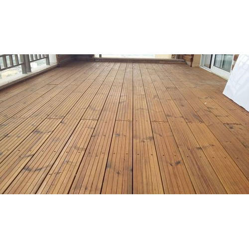 Exterior Real Wood Waterproof Glossy Decking With Uv Coating