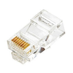 8 Pin White Rj45 Connector